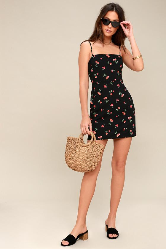 Cute Mini Dress - Cherry Print Mini Dress - 90s Cherry Dress d14238599