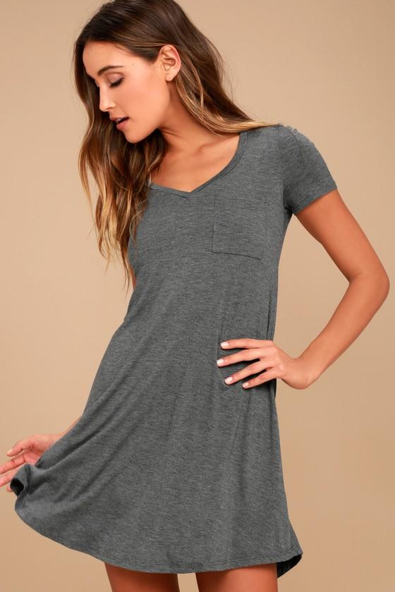 42e476ca3b2b Grey Dress - Shift Dress - Shirt Dress