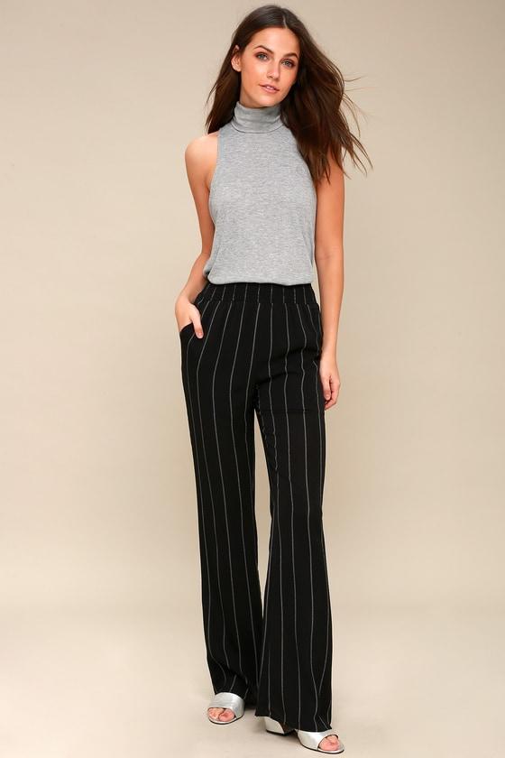 391deb23f928 Chic Black and White Striped Pants - Striped Wide-Leg Pants
