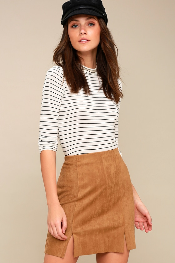 b3e47773e0c Cute Mini Skirt - Vegan Suede Skirt - A-Line Skirt