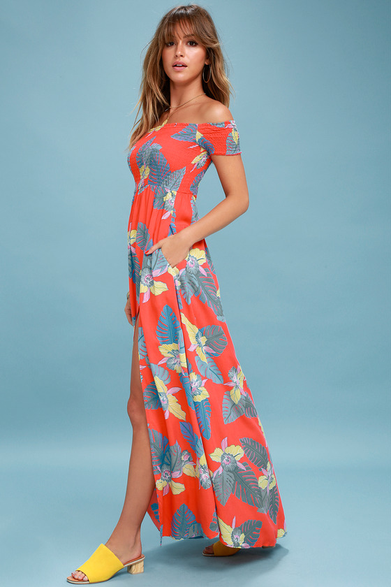 Coral Reef Print Evening Dresses