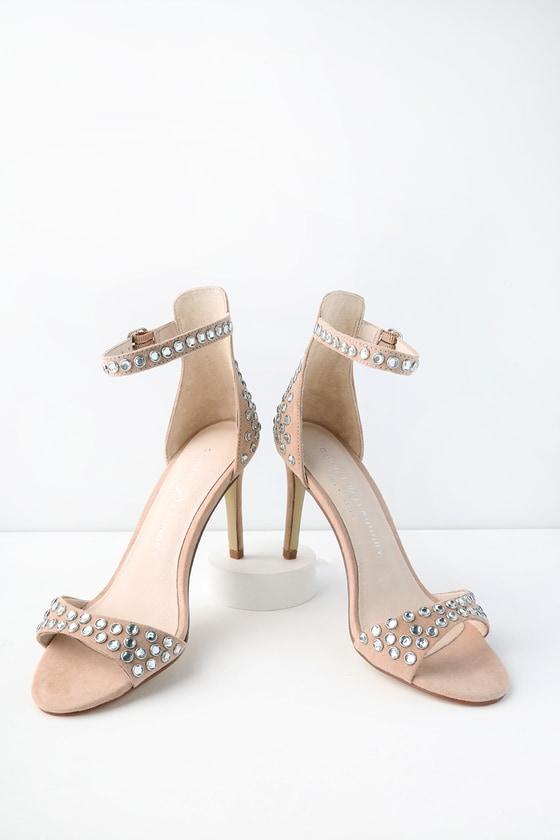 492faa2939 Chinese Laundry Starshine - Rhinestone Ankle Strap Heels