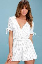 328944a1ee092c ... Floral Print Skort Dress. $59 · Cute Stuff Black and White Polka Dot  Tie-Sleeve Romper