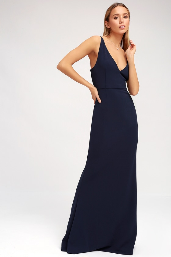 aff522a3d2 Sexy Navy Blue Maxi Dress - Sleeveless Maxi Dress