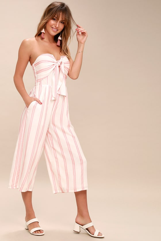Pink And White Bedroom: Pink And White Striped Jumpsuit