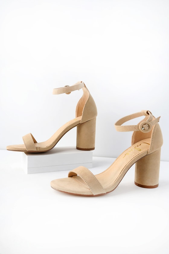 d44de0f9456f Stylish Nude Heels - Vegan Suede Heels - Single Sole Heels