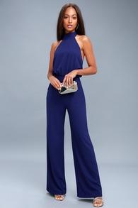 e24eafa8df5 Royal Blue Jumpsuit- Backless Jumpsuit - Sleeveless Jumpsuit