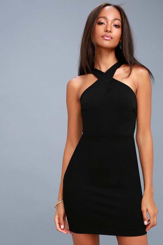 56f08f94499d Sexy Black Dress - Bodycon Dress - Sleeveless Dress