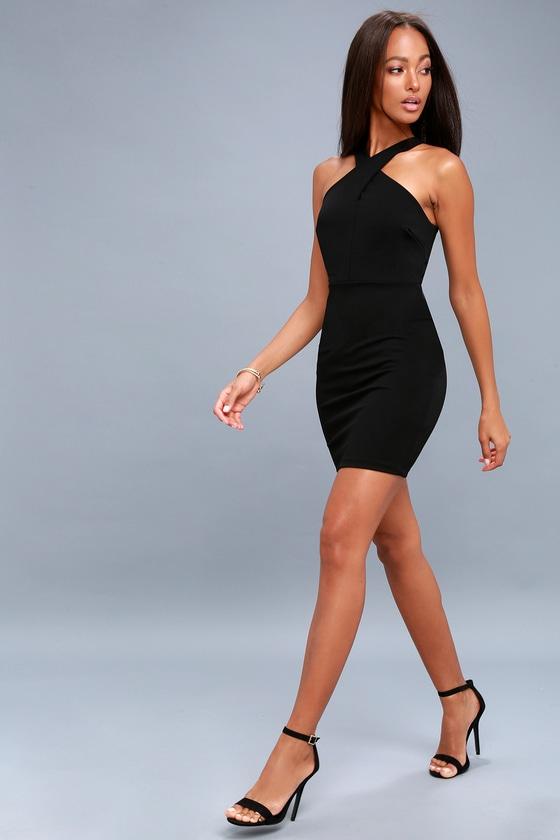 Sexy Black Dress Bodycon Dress Sleeveless Dress