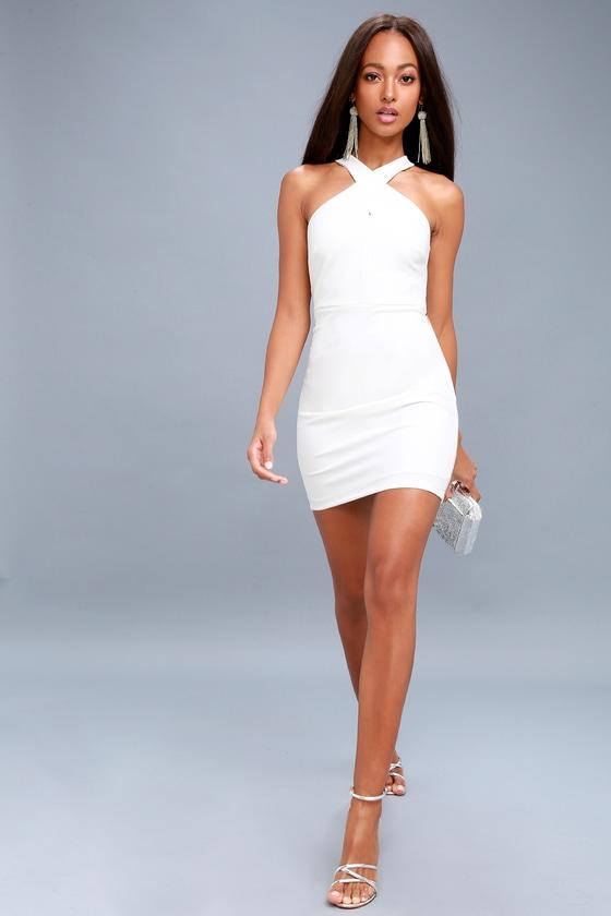 5bc5d317ad4fab Sexy White Dress - Bodycon Dress - Sleeveless Dress