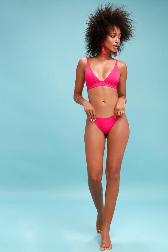 e92d183ce9 Cute Fuchsia Bikini - Two-Piece Swimsuit - Pink Bikini