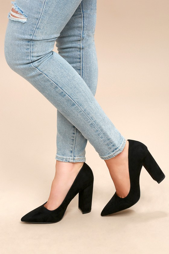 7ed404aa641 Ridley Black Suede Pumps