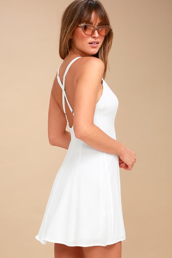 b4cd544b3d Lucy Love Rachel - White Dress - Slip Dress - Mini Dress