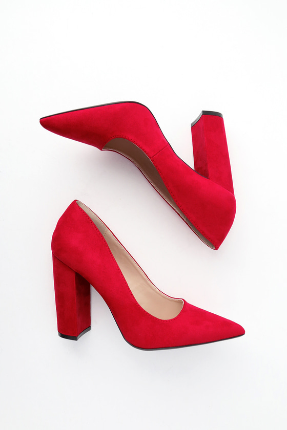 Ridley Red Suede Pumps