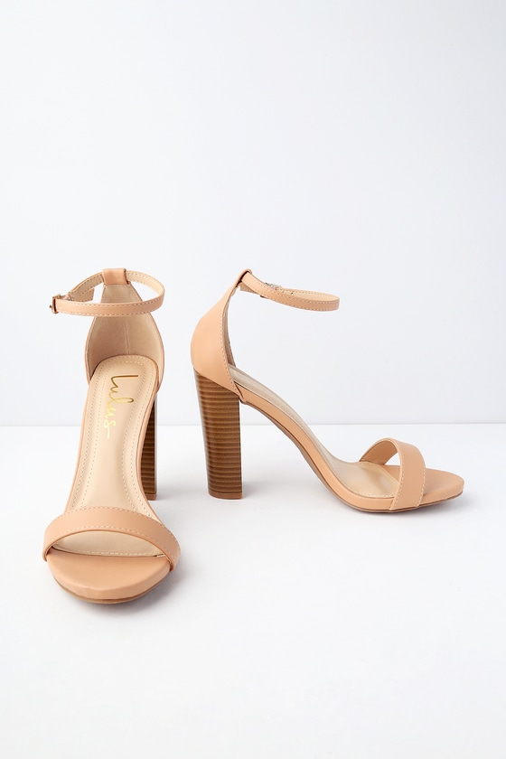 Lulus Taylor Almond Stacked Ankle Strap Heels - Lulus FjWtyTrS