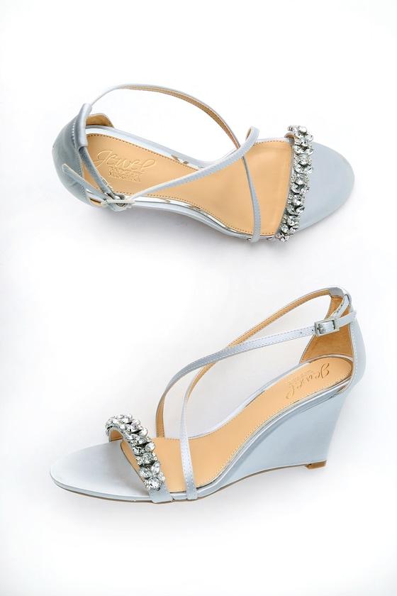 Vintage Style Wedding Dresses, Vintage Inspired Wedding Gowns Jewel by Badgley Mischka Haskell II Gold Ankle Strap Heels - Size 8 - Lulus $79.00 AT vintagedancer.com