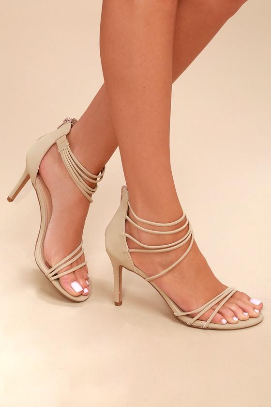 Chic Natural Heels - Nubuck heels - Ankle Strap Heels 84bf35ac026c