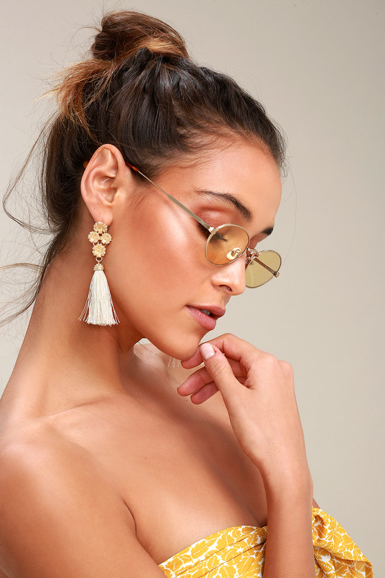 76b39b92b6 Crap Eyewear The New Riddim - Round Gold Sunglasses