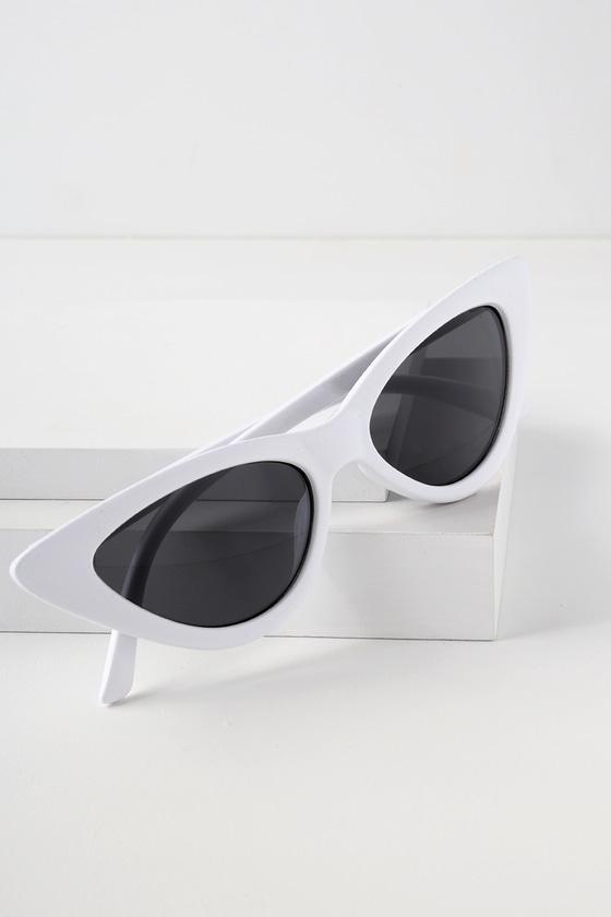 0e718a13b2 Chic White Sunglasses - White Cat-Eye Sunglasses