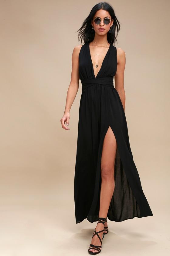 Halter maxi evening dress
