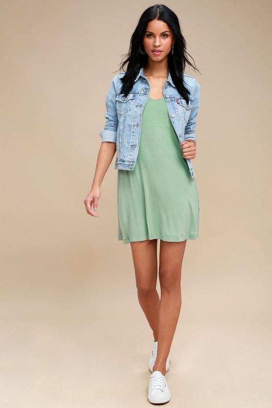 689570be0f2 RVCA Chances - Green Dress - Swing Dress - Casual Dress