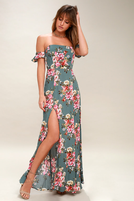 Primrose Path Sage Green Floral Print Maxi Dress by Lulus
