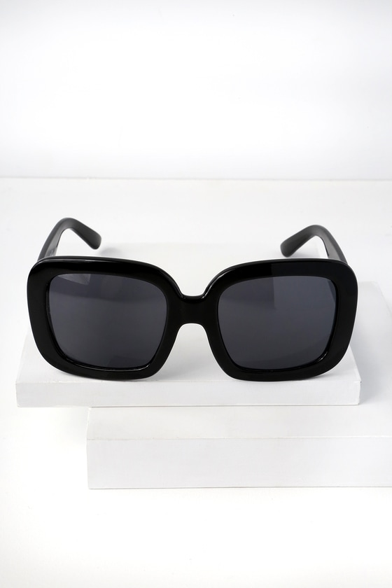 5b9e1e036b7 Chic Sunglasses - Black Sunglasses - Chunky Sunglasses