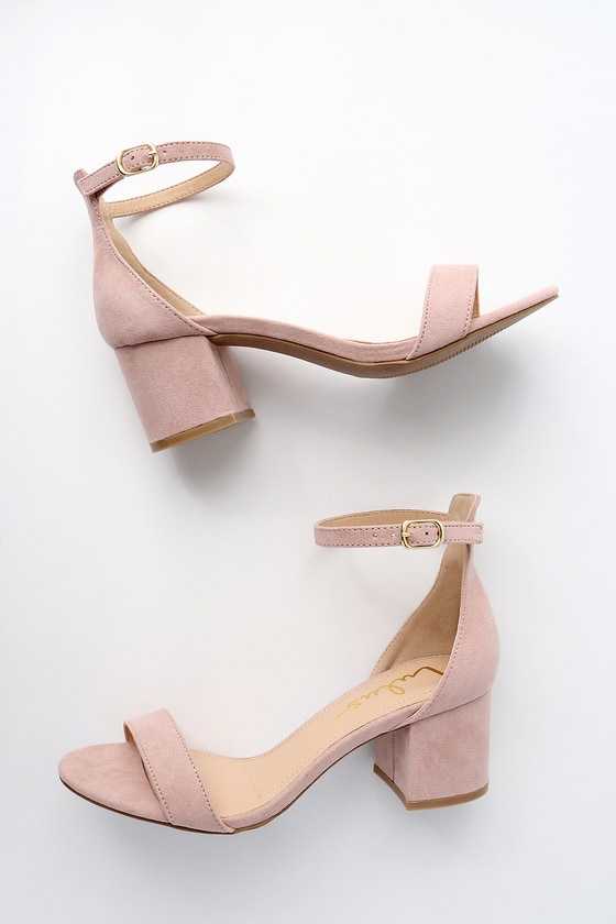 b4daa1d1dcab Chic Nude Sandals - Single Sole Heels - Block Heel Sandals