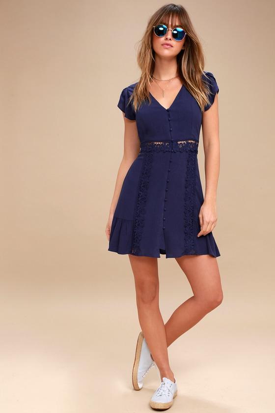 971d2346d3 Sweet Lace Dress - Crochet Lace Dress - Blue Lace Dress