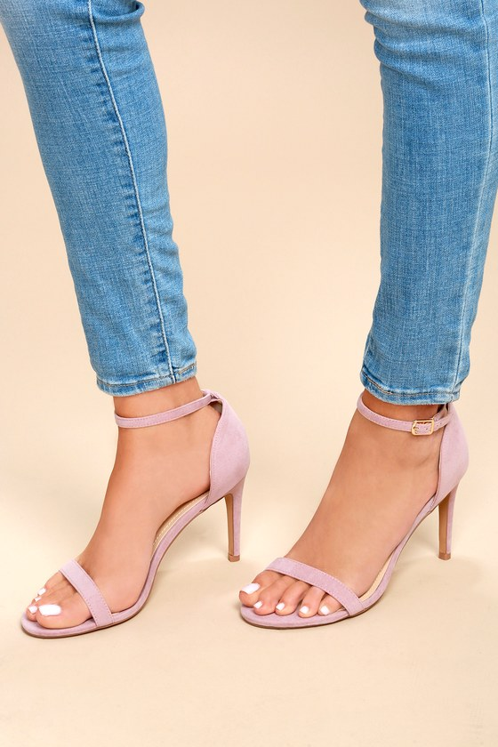 337e162f426 Ana Dusty Rose Suede Ankle Strap Heels