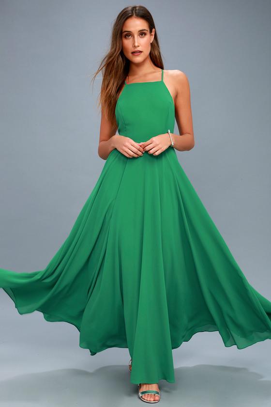 8d3e70912e31 Beautiful Green Dress - Maxi Dress - Backless Maxi Dress