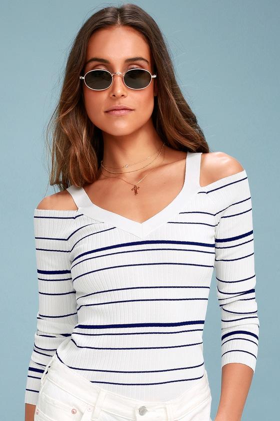 dd30bdd9eed14 BB Dakota Apollo - Blue and White Striped Sweater