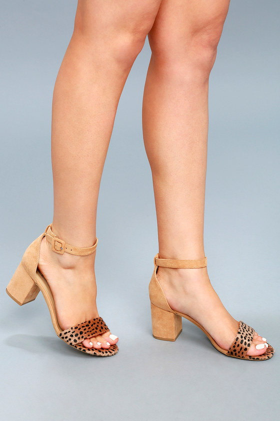 15be1785d90c CL by Laundry Jody - Cute Cheetah Heels - Ankle Strap Heels