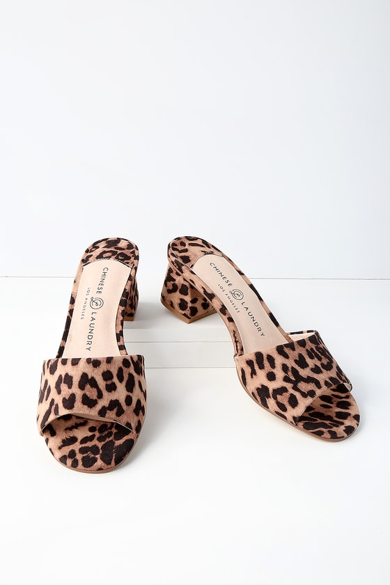 eb25280e4aff Chinese Laundry My Girl - Leopard Mules - Slide Sandals