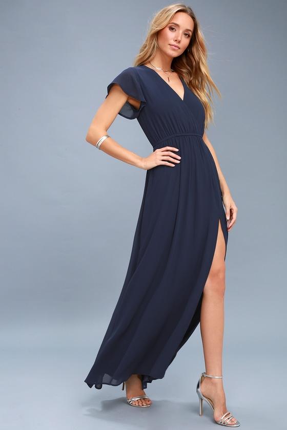 a751943b0ea Elegant Maxi Dress - Short Sleeve Maxi Dress