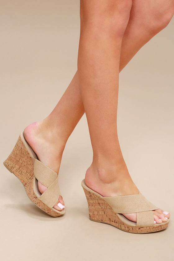 b2e88e1777e Charles by Charles David Latrice - Nude Suede Wedges