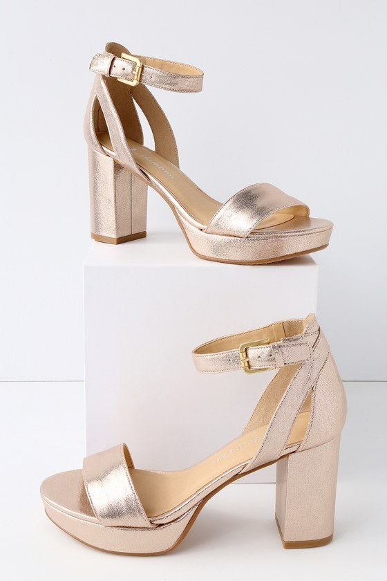 41e84fc419e CL by Laundry Go On Heels - Light Gold Platform Heels