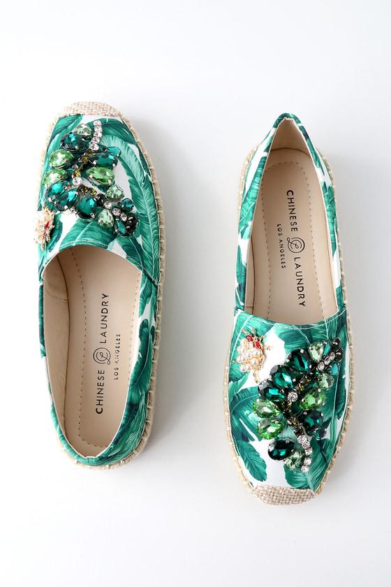 Lulus Hayden Tropical Print Slip-On Espadrille Sneakers - Lulus 80H99