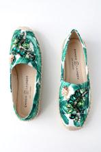 53d71c5b17c44 Hayden Green Tropical Print Slip-On Espadrille Sneakers