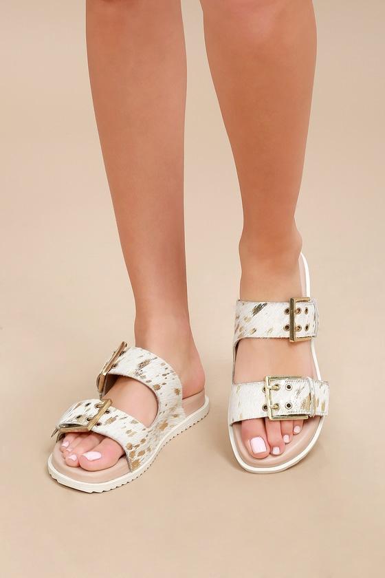 871e9ae0d13e Naughty Monkey Hey Pony - Pony Fur Slide Sandals