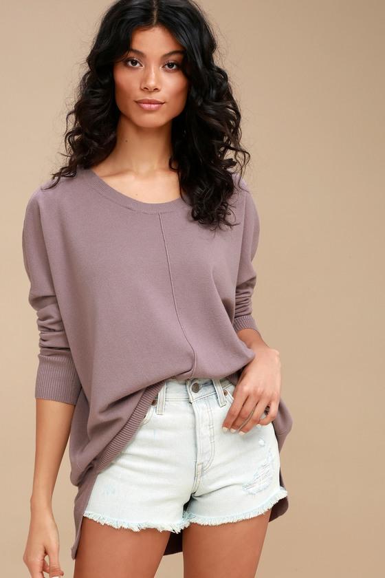 Purple Oversized Sweater