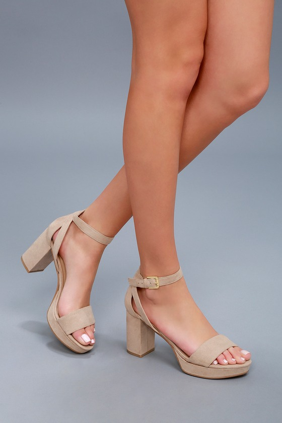 a788bc51074 CL by Laundry Go On Heels - Nude Suede Platform Heels