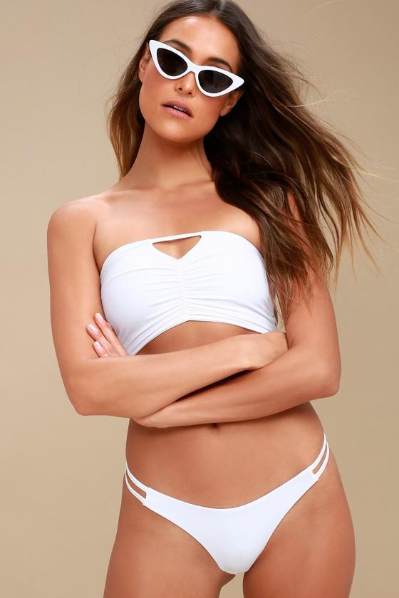 a3383c4917586 Arrow   Eve Ivy - Thong Bikini Bottoms - White Bikini Bottom