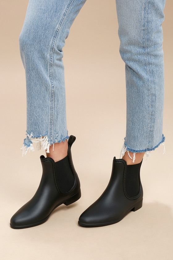 Report Slicker Booties Black Rain Boots Chelsea Booties