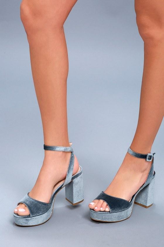 5d378b630b6 Chinese Laundry Theresa - Blue Heels - Platform Heels