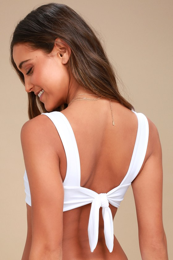 208091cd8ad KAOHS Swim Hampton - White Bikini Top - Tying Bikini Top