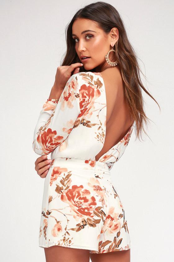 ad8f14e81581 Ali   Jay Flower Power - White Floral Print Backless Romper