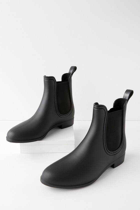 231c7316c9b0 Report Slicker Booties - Black Rain Boots - Chelsea Booties