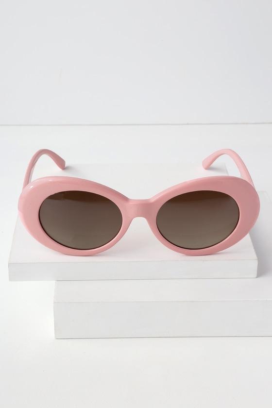 799e27156c36 Cool Oval Sunglasses - Pink Sunglasses - Trendy Sunglasses