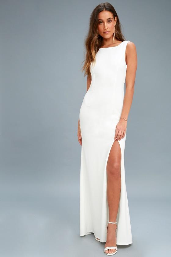 c9dd4360c4a Elegant White Maxi Dress - White Maxi Dress - Bridal Dress